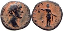 ANTONINUS PIUS AD 138-161 Æ SESTERTIUS ROME MINT 22.1 GR & 30,12 MM