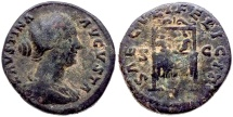 FAUSTINA JUNIOR 147-175 AD ROME MINT Æ DUPONDIUS 12.4 GR & 25,68 MM