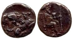 Ancient Coins - CILICIA MYRIANDROS MAZAIOS 361/0-334 BC. AR OBOL 0.7 GR & 8,61 MM