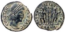 Ancient Coins - CONSTANTIUS II Æ FOLLIS ANTIOCH MINT 1.8 GR & 15 MM