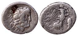 Ancient Coins - L RUBRIUS DOSSENUS AR QUINARIUS 1.6 GR & 15 MM