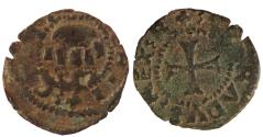 Ancient Coins - CRUSADERS CHIOS LAZAROS GIUSTINIANI AR TORNESE 12 MM & 0.3 GR