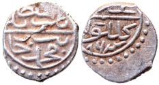 World Coins - OTTOMAN AR AKCHE of BAYAZID II AH 886 GELIBOLU  MINT  0.7 GR & 10 MM
