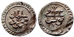 World Coins - OTTOMAN TUNISIA AR 2 KHARUB of MAHMUD I AH 1153 TUNUS 2.4 GR & 19,73 MM
