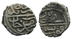 World Coins - OTTOMAN AR AKCHE of BAYAZID II AH 886 KONYA MINT 11 MM & 0.7 GR