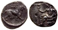 Ancient Coins - CILICIA MYRIANDROS MAZAIOS 361/0-334 BC. AR OBOL 0.7 GR & 9,66 MM