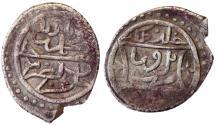 World Coins - OTTOMAN MEHMED I AR AKCHE 822 AH BURUSA MINT 12 MM & 1.1 GR