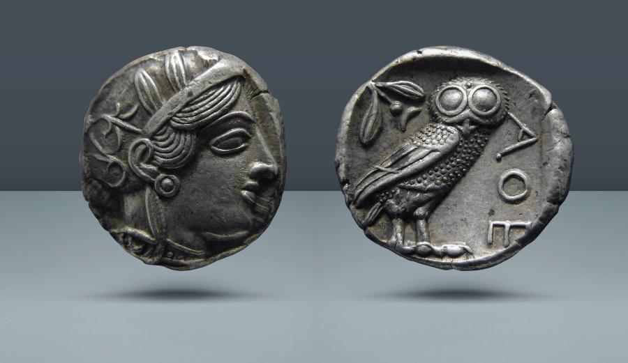 Ancient Coins - ATTICA, Athens. c. 421 BC. AR Tetradrachm
