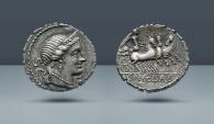 Ancient Coins - ROMAN REPUBLIC, C. Naevius Balbus. Rome, 79 BC. AR Serrate Denarius