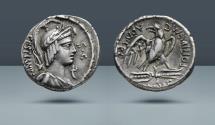 Ancient Coins - M. Plaetorius M.f. Cestianus. Rome, 67 BC. AR Denarius