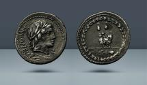 Ancient Coins - ROMAN REPUBLIC. Mn. Fonteius C.f. 85 BC. AR Denarius. Ex NAC sale 2, 1990, 325. Privately purchased from Freeman and Sear in 2009 and from the Aloysius Lynn collection.