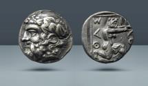 Ancient Coins - THRACE, Thasos. c. 390-335 BC. AR Drachm. Ex Kovacs IX (21 November 1988), 81