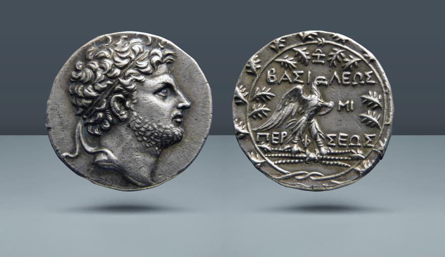 Ancient Coins - KINGS of MACEDON. Perseus. 179-168 BC. Pella or Amphipolis mint. Struck c. 174-173 BC. AR Tetradrachm