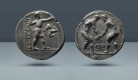 Ancient Coins - PAMPHYLIA, Aspendus. c. 370-330 BC. AR Stater