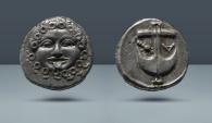 Ancient Coins - THRACE, Apollonia Pontika. Late 5th-4th centuries BC. AR Drachm