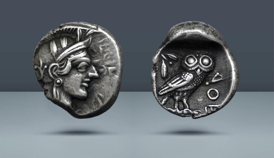 Ancient Coins - ATTICA, Athens. c. 454-404 BC. AR Drachm. Ex Prospero Collection, lot 371