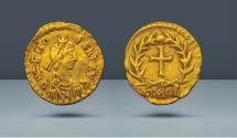 Ancient Coins - Vandals in Italy. Odovacar in the name of Zeno. 476-493 AD. Milan. AV Tremissis. Künker e.K., Osnabrück 295 (2017), 1213
