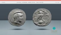Ancient Coins - ATTICA, Athens, New Style. 136/135 BC. AR Tetradrachm. Ex Gorny & Mosch 87 (1998), lot 154