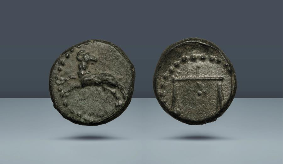 Ancient Coins - SOUTHERN ASIA MINOR OR THE NORTHERN LEVANT. Uncertain mint. c.3rd century BC. AE 15. Under Nektanebo II