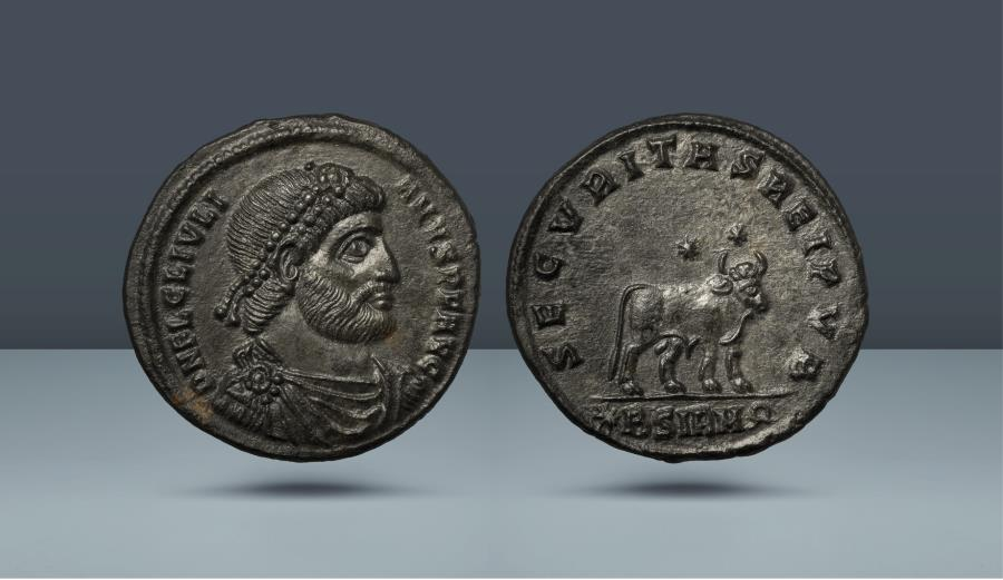 Ancient Coins - Julian II. Sirmium, Summer AD 361- 26 June 363. AE Double Maiorina. From the Brian Henry Grover Collection