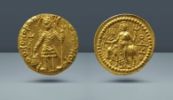 KUSHAN, Vasu Deva. 195-230 AD. AV Stater