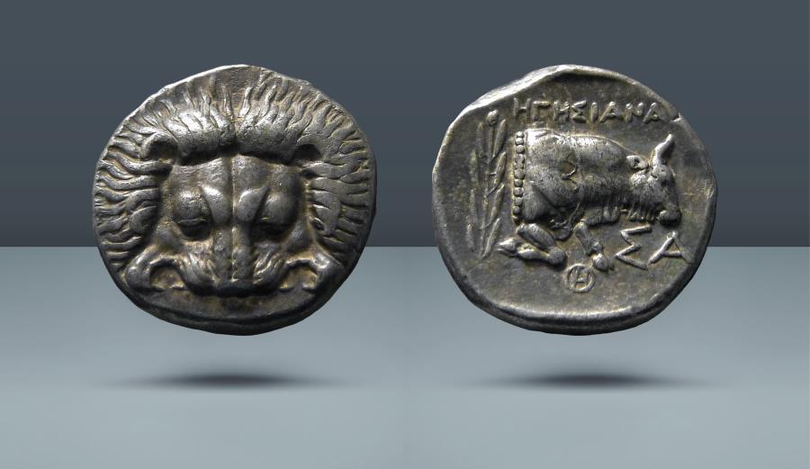 Ancient Coins - ISLANDS off IONIA, Samos. Hegesianax, magistrate. c. 408/4-380/66 BC. AR Tetradrachm