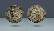 Ancient Coins - Julia Mamaea as Augusta. 222-235 AD. Rome, 223 AD. AR Denarius