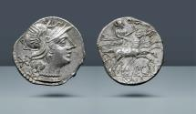 Ancient Coins - ROMAN REPUBLIC. P. Calpurnius. Rome, c. 133 BC. AR Denarius. Comes with export license from Italy