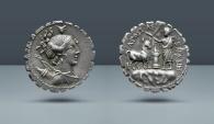 Ancient Coins - ROMAN REPUBLIC, A. Postumius Albinus. Rome, 81 BC. AR Serrate Denarius