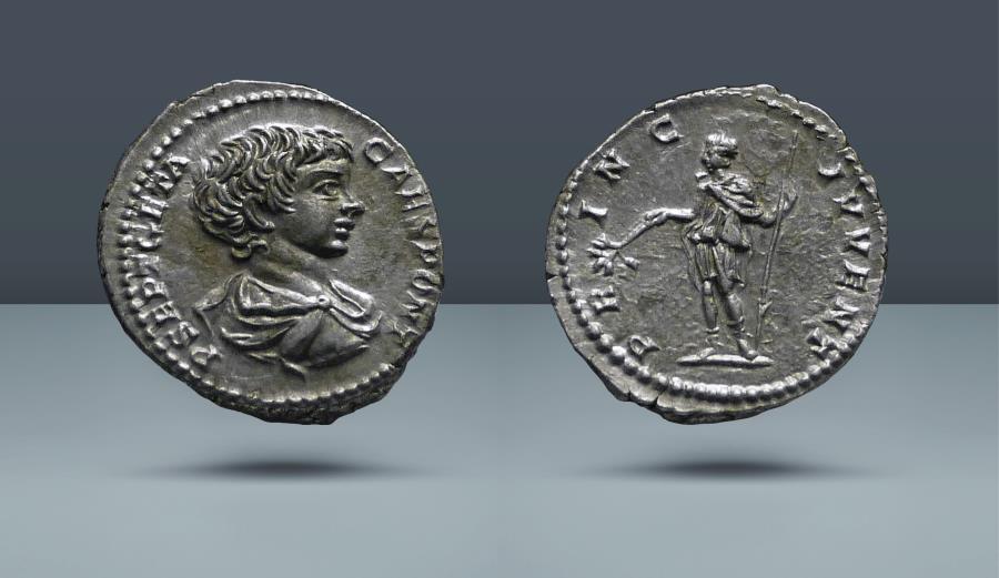 Ancient Coins - Geta. 197-209 AD (Caesar). Rome, c. 200-202 AD. AR Denarius