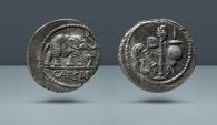Ancient Coins - ROMAN IMPERATORIAL. Julius Caesar. Denarius. Purchased from Schulman, Amsterdam in the 1970's