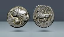 Ancient Coins - SICILY. Syracuse. Agathokles. 317-289 BC. AR Stater, 8.46g. Ex Swiss collection, c. 1990's