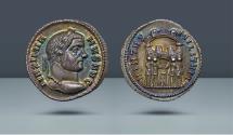 Ancient Coins - Maximian, 286-305 AD. Ticinum, c. 295 AD. AR Argenteus