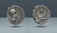 Ancient Coins - ROMAN IMPERATORIAL, Cn. Domitius L.f. Ahenobarbus. Uncertain mint along the Adriatic or Ionian Sea. Rome, 41-40 BC. AR Denarius