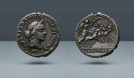 Ancient Coins - Roman Republic. C. Annius. North Italy, c. 82-81 BC. AR Denarius. From the E.E. Clain Stefanelli Collection