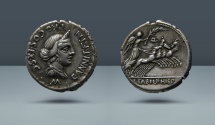 Ancient Coins - Roman Republic. C. Annius. North Italy, c. 82-81 BC. AR Denarius. From the E.E. Clain Stefanelli Collection