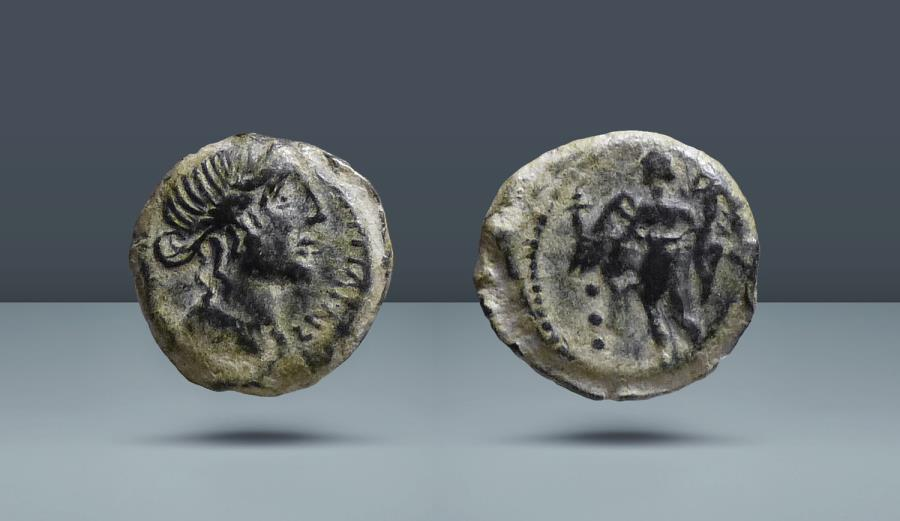 Ancient Coins - SPAIN, Corduba. c. 150-100 BC. AE18 or Quadrans. From an American Collection formed in the 1990's