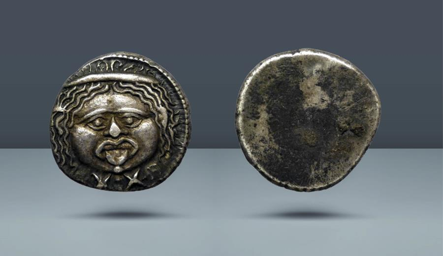 Ancient Coins - ETRURIA. Populonia. c. 300 BC. AR 20 Asses. Ex NAC 92 (Part 1), 23 May 2016, lot 69