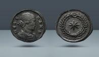 Ancient Coins - Helena. As nobilissima femina, Struck under Constantine I. 306-324 AD. AE Follis