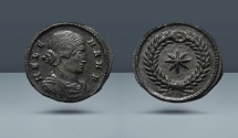 Ancient Coins - Helena. As nobilissima femina, Struck under Constantine I. 306-324 AD. AE Follis