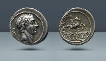 Ancient Coins - Philippus. Rome, 56 BC. AR Denarius. Ex Blaser-Frey Auction 12, 17 January 1964, lot 1181