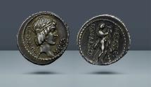 Ancient Coins - ROMAN REPUBLIC. Q. Pomponius Musa. Rome, 66 BC. AR Denarius