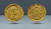 Ancient Coins - Theodosius II. 402-450 AD. Constantinople. AV Tremissis