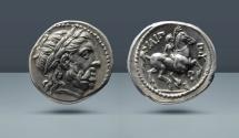 Ancient Coins - MACEDONIAN KINGDOM. Philip II, 359-336 BC. Amphipolis. AR Tetradrachm