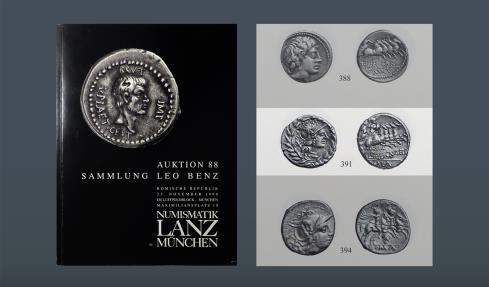 Ancient Coins - ROMAN REPUBLIC. Cn. Gellius. Rome, 138 BC. AR Denarius. Ex M&M 7 Oct 1982, lot 253. Ex Leo Benz Collection, Lanz, 23 Nov 1998, lot 391