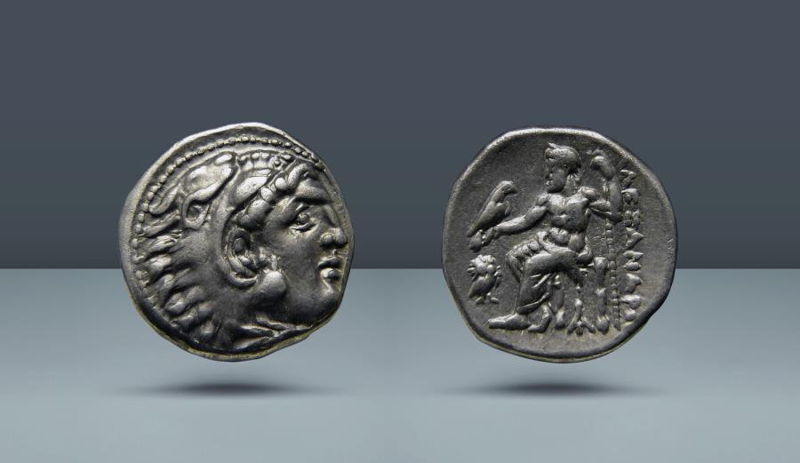 Ancient Coins - MACEDONIA. Alexander III, the Great. 336-323 BC. Magnesia ad Maeandrum, c. 319-305 BC. AR Drachm