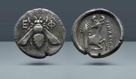Ancient Coins - IONIA, Ephesos. Struck c. 370-360 BC. AR Tetradrachm