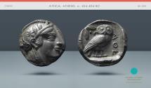 Ancient Coins - ATTICA, Athens. c. 454-404 BC. AR Tetradrachm