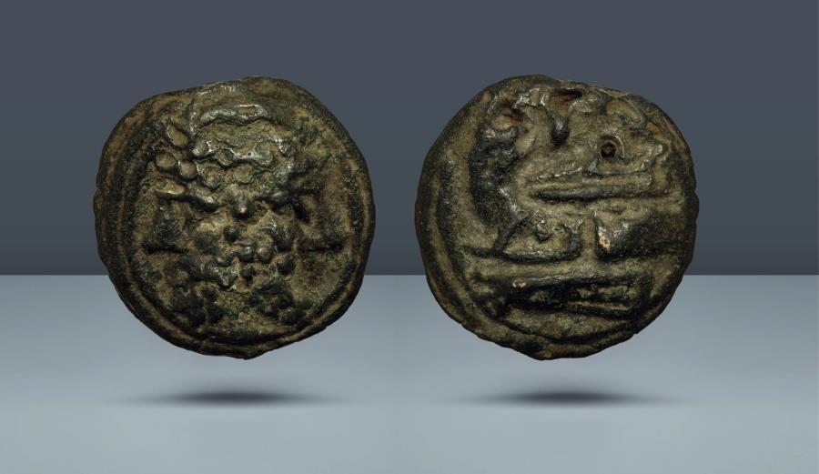 Ancient Coins - Roman Republic AE As. Anonymous. Rome, c. 215-212 BC. AE As. Ex Münz Zentrum 88, Cologne 1997, lot 353. Peus Nachfl. 322, 1988, lot 42. Kurpfälzische Münzhandlung 15, 1979, lot 105
