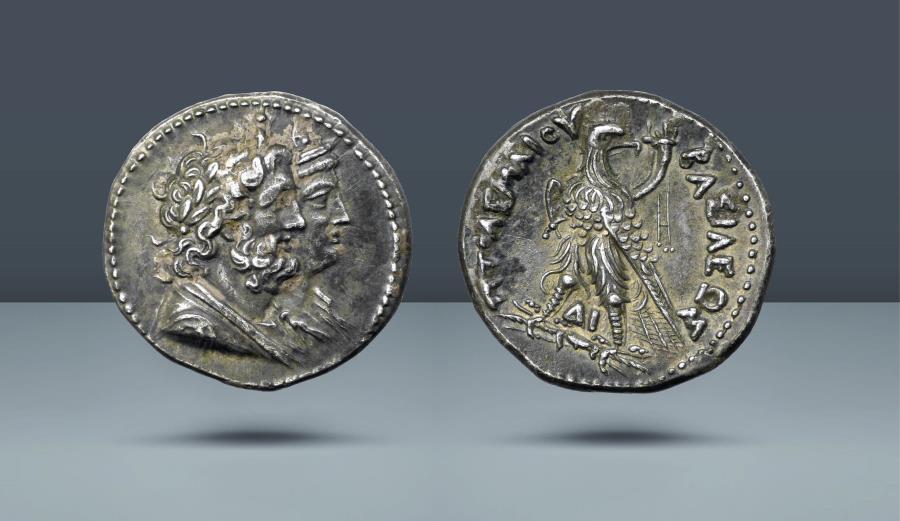 Ancient Coins - PTOLEMAIC EGYPT. Ptolemy IV. 221-205 BC. AR Tetradrachm. Ex Ars Classica XII, 1926, lot 2604. Ex Leu 7, 1973, lot 304